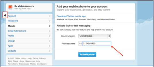 Twitter 2 Step Authentication
