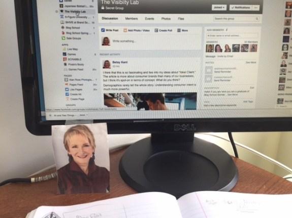 headshot, blogging, betsy kent, blog school, be visible