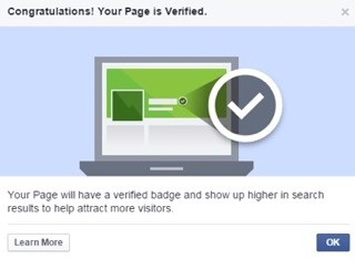 verify your facebook business page, be visible, betsy kent
