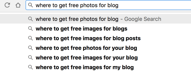 where to get free photos for blog
