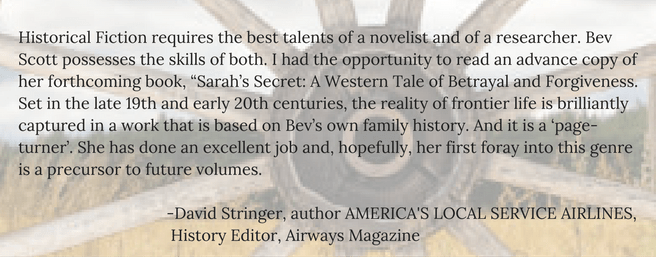 Testimonial by David Stringer, for Bev Scott Author