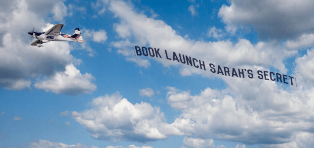 Airplane banner Sarah's Secret