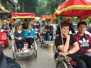 Bev Scott and Family, Rickshaws, in Asia 2017