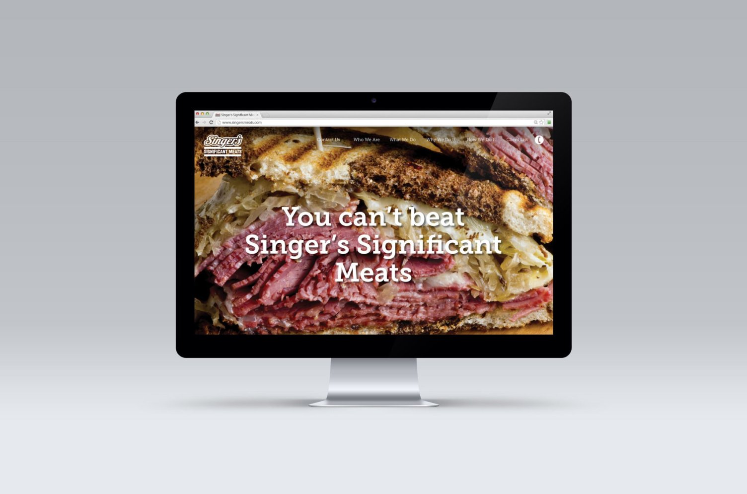 Singer's Significant Meats Website