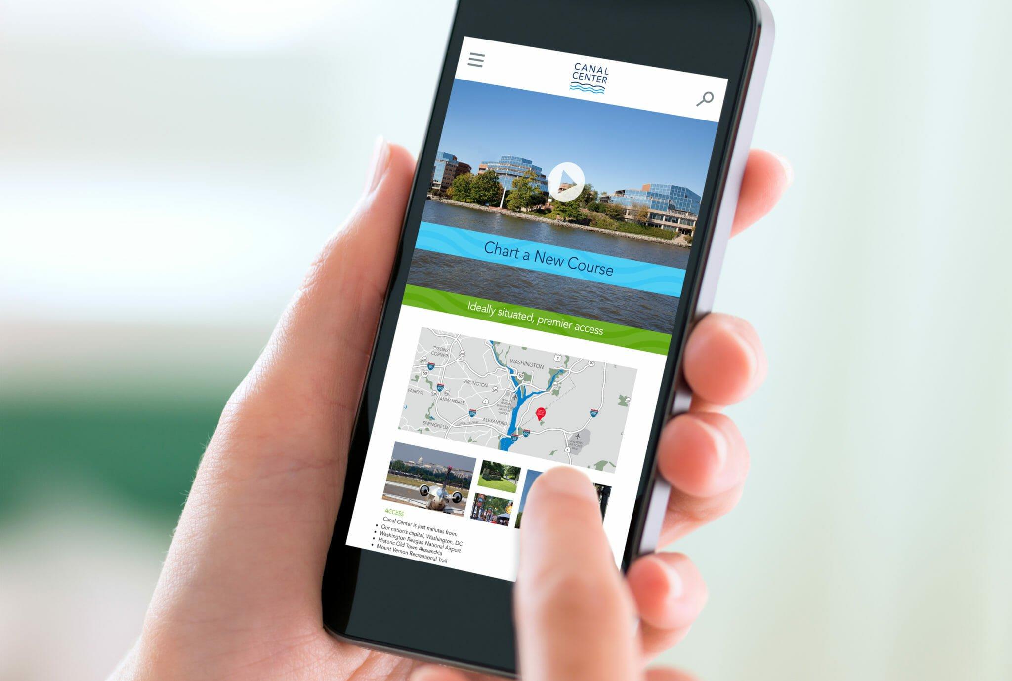 Canal Center Mobile Website