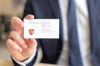 JTG, inc. business card