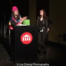 Christina May hosted the screenings. Photo by Lia Chang