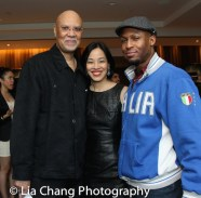 Warrington Hudlin, Lia Chang and Manny Brown at The Urban Action Showcase & Expo's premiere screening of Owen Ratliff's BLACK SALT at HBO in New York on April 27, 2016.