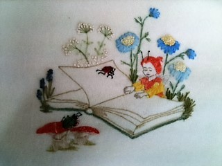 Pixie with Book