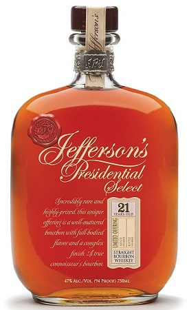 jefferson's presidential select 21 year old bourbon