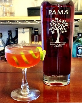 pama and rum cocktail