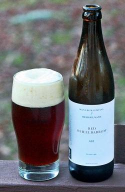 maine beer company red wheelbarrow ale