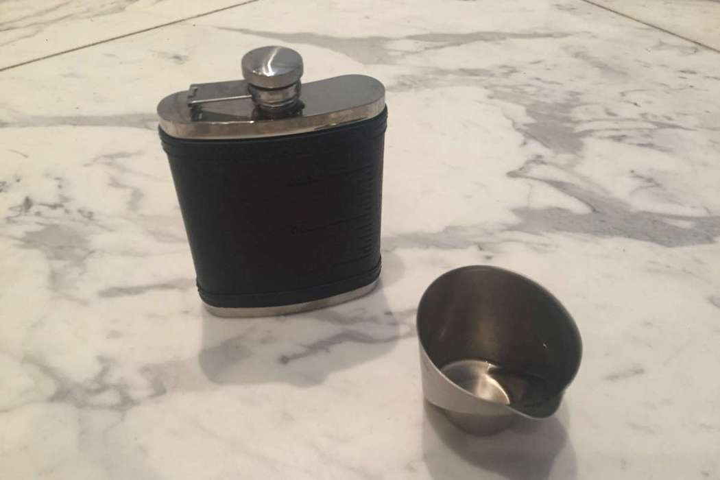 flask and measuring cup