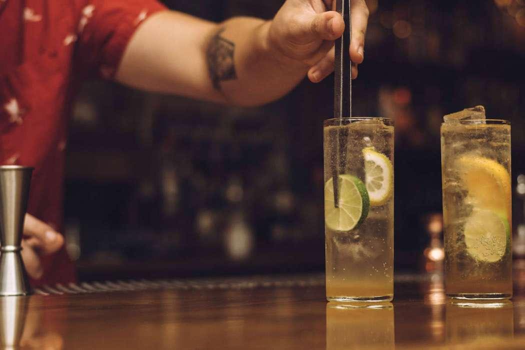 Gin and Tonic at Birds & Bees, LA.