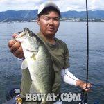 琵琶湖へ (8月20日) インサイドでバイト多数