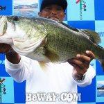 琵琶湖バスフィッシングガイドリポート ~千都様~ 35cm