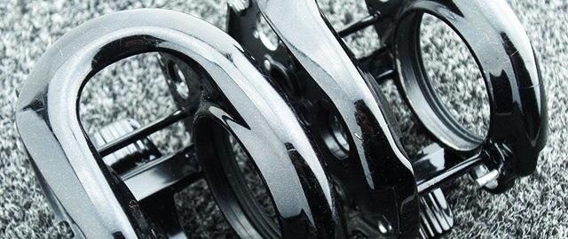 リールクラッチ塗装 メタニウム写真