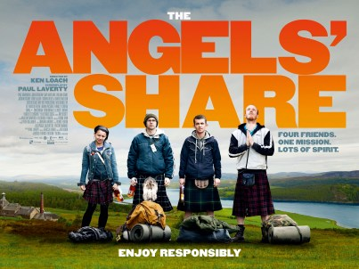 Movie poster of Ken Loach's The Angels' Share