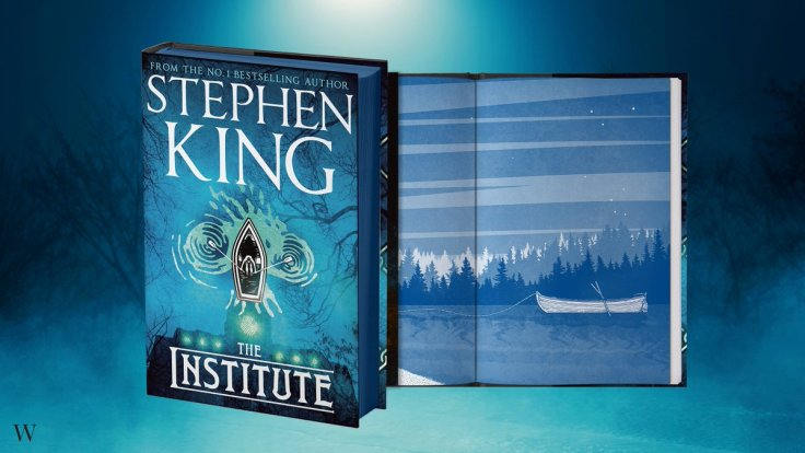 Picture of cover of Stephen King's new novel The institute