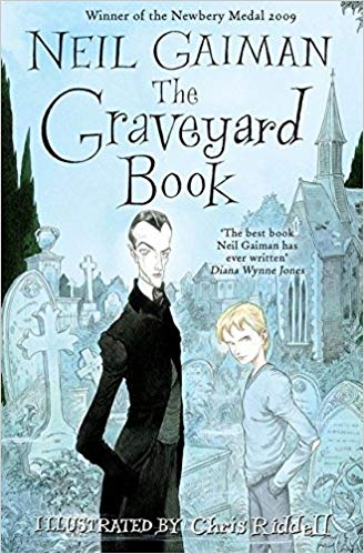 Cover of The Graveyard Book - Neil Gaiman, illustrated by Chris Riddell