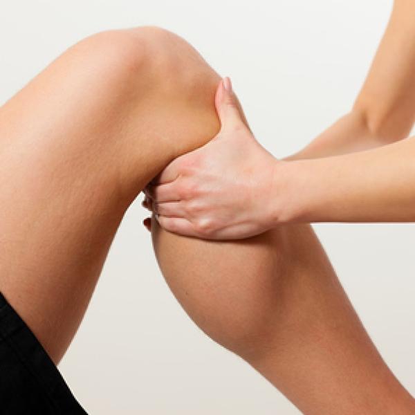 massaging a knee
