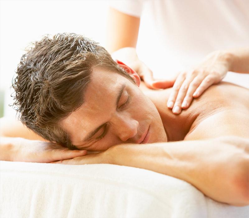 Man receiving Express Massage