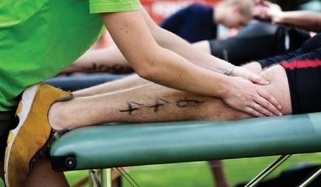 Man receiving Advanced Sports Massage