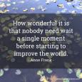 Improve The World - Anne Frank - Facebook