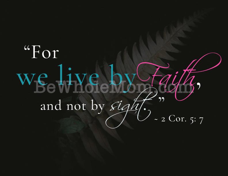 Live by Faith Scripture Printable