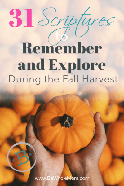 31 Scriptures to Remember and Explore During the Fall Harvest