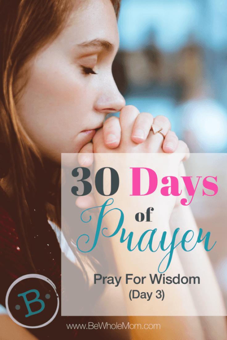 30 Days of Prayer Pray for Wisdom Day3