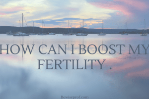 How Can I Boost My Fertility .