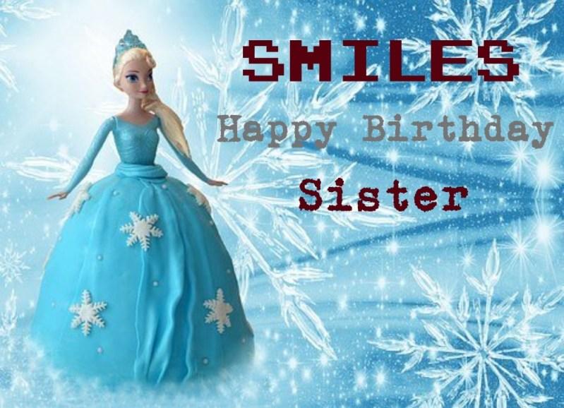 Funny happy birthday sister image