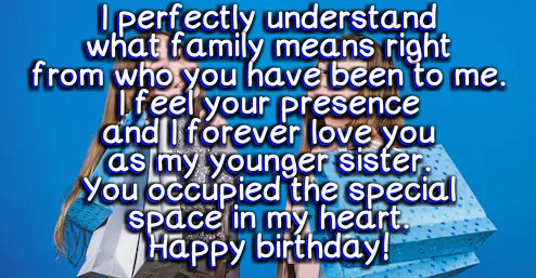 birthday wishes for younger sister from elder sister