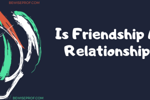 Is friendship a relationship