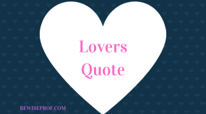 Lovers Quote