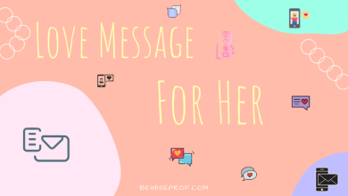 Photo of Love message for her