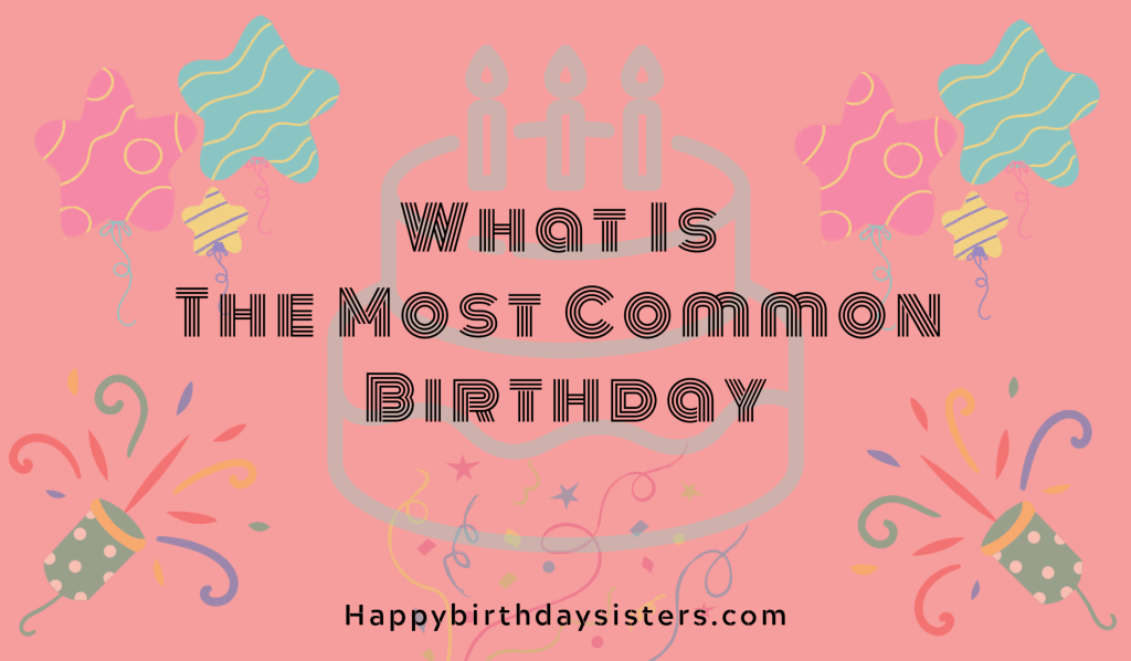 What Is The Most Common Birthday