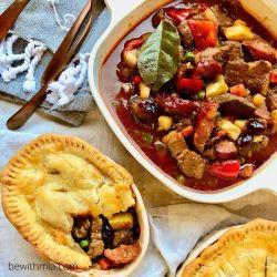 Filipino Menudo Two Ways: Pot Pie and Traditional