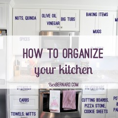 How To Organize Your Kitchen Cabinets And Drawers Green Rug Home Organization