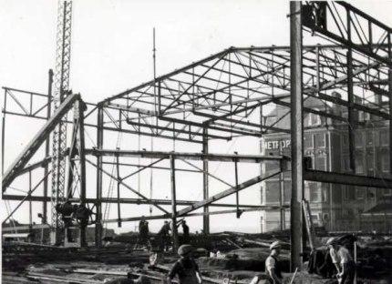 De La Warr Pavilion under construction 1935