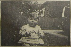 Belgian Refugee Baby. His photograph appeared in the Bexhill Observer.