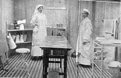 Normanhurst operating theatre. 1st january 1916 Chronicle