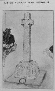 Little Common war memorial Observer 1919 27 Dec