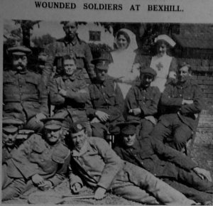Observer 19th June 15 Wounded soldiers at Cantelupe Road