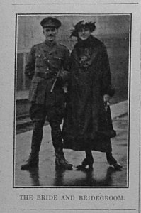 Wedding Ann Gorton VAD,Cantelupe Hospital Sussex 24. 8th January 1916 Bexhill Chronicle