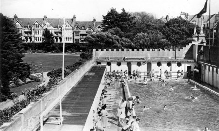Egerton Park Swimming Baths, Bexhill c1950