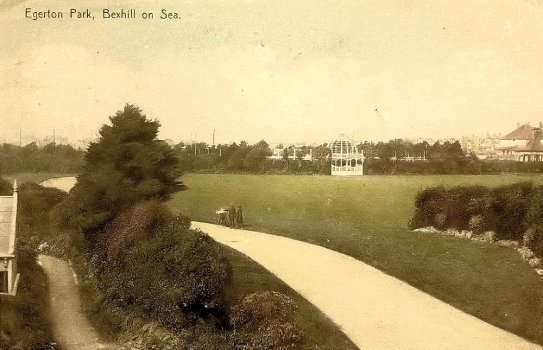 Egerton Park postcard with Pergola c1910