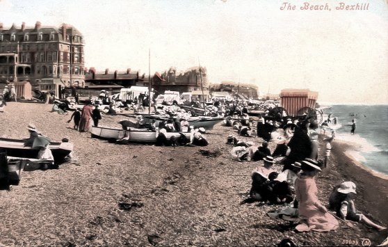 BBE-012 - Metropole and Beach, Bexhill c1905