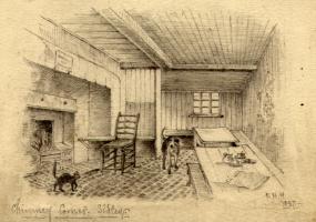 Chimney Corner, Sidley, interior drawing 1897